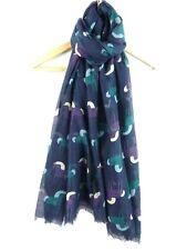 Femmes Mignon Violet Turquoise Cheval Poney Imprimé Large écharpe douce Wrap Cover Up