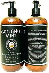 2 Renpure Professional 16oz Coconut Mint Coconut Oil Curly Cleansing Conditioner