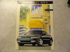 1996 Mazda MX-6 MX6 Sales Brochure