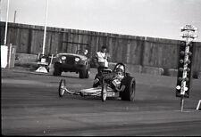 Front Engine Dragster Starting Line Lights - Vintage 35mm Drag Racing Negative