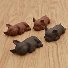 1pc Ceramic Little Puppy Dog Figure Tea Pet Home Tea Tray Craft Decoration