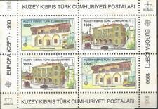 Chypre Turc EUROPE cept 1990 Usée Feuille Bloc Chypre