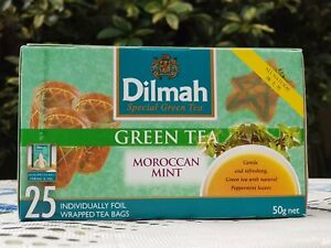 Dilmah Green Tea with Moroccan Mint -Natural Peppermint Leaves