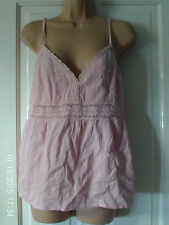 PINK STRAPPY TOP, SIZE LARGE