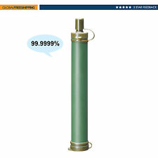 800L /211 Gal Portable Emergency Water Filter Straw Purification Hiking Camping