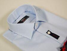 Camicia Ingram Celeste Cotone Oxford No Stiro collo mezzo francese Taglia 43-XL