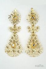 Rose Cut Diamond Earrings c1820 Beautiful Antique French 18K Gold