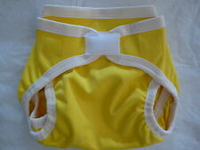 New M CottonYellow Polyester Cloth Diaper Cover Double Gusset Like Nikky Eb213