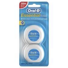 * Oral-B Essential Floss 100m (2 x 50m) Removes Plaque, Shed Resistant