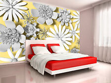 Photo Wallpaper Serrated Flowers GIANT WALL DECOR PAPER POSTER FOR BEDROOM