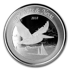 2018 SILVER ST. KITTS & NEVIS $2 PELICAN 1 OZ COIN IN CAPSULE