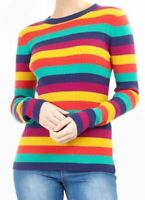 Ladies Rainbow Stripe Jumper BNWT Brave Soul