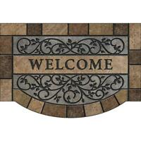 Door Mat Rubber Textured Heavy-Duty Durable Non-Slip Fiber-Surface 2 X 3 Ft