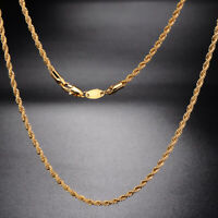 Fashion Womens Mens,Chain Yellow Gold Plated,Statement Rope long Necklace 23.6
