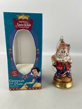 Walt Disney's Snow White and the Seven Dwarfs Happy Mouth Blown Glass Ornament