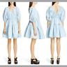 NEW $825 Cecilie Bahnsen Susannah Wrap Dress in Light Blue [SZ M/L ] #E541