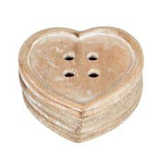 4 x coaster set en bois coeur shabby chic kitsch bois sculpté cœurs sass & belle