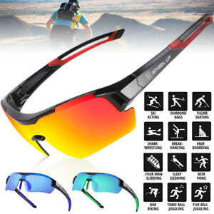 Bicycle Polarized Cycling Sunglasses Bike Goggles Riding Hiking Glasses UV400
