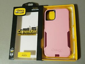 OtterBox Commuter Case for Apple iPhone 11 - Cupids Way Rosamarine Pink Red Plum