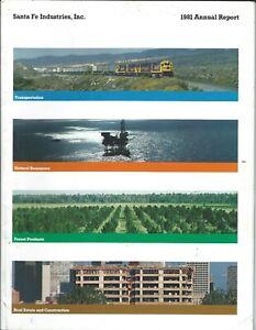 Annual Report - Santa Fe Industries - 1981 - Railroad Natural Resources (AR85)