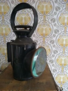 Vintage Railway Signal Oil Lamp Railway Lantern. Red/Green/Clear. Marked L.T.