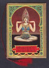 CALENDARIETTO RANCÉ 1926 VISIONI INDIANE Illustratore SAN MARCO - FONDO ORO