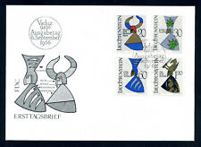 Liechtenstein 1966 FDC Coats of arms / Wappen. Mi. 465 - 468..