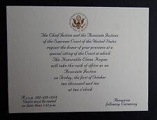 Rare Invitation Special Sitting U.S. Supreme Court Justice Elena Kagan 2010