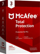 Mcafee Total protection 2017/2016 - 1year Subscription -3 Pcs(only for Pc)