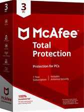 McAfee TOTAL PROTECTION 2020/2019 - 1Year Subscription -3 PCs(Only for PC)