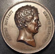 Italie - médaille - médecine - Pietro Moscati - Medico Filosofo ! par Cossa XIXè