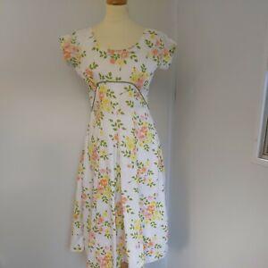 Vintage 50s California Cottons Dress Size 12 rockabilly  mid Century mark