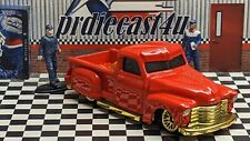 """HOT WHEELS CHEVY PICKUP LA TROCA LOOSE 1:64 CUSTOM """"RED"""" COLLECTION SERIES"""