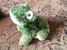 """Cutest Bug Eyed Green Frog Soft Plush Stuffed Animal Toy High End Ganz 6"""" Velour"""