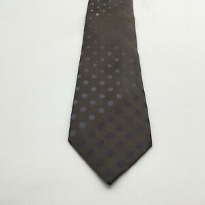 "Kenneth Cole Reaction Tie Brown With Gray &Purple Polka Dots 60"" X 3"" Vintage"