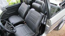 Golf 1 Cabrio Sitzbezüge Ledersitze Lederbezüge nach Mass in schwarz
