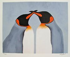"NICOLA READ ""BEAK TO BEAK"" Hand Signed Limited Edition Giclee PENGUIN ART"