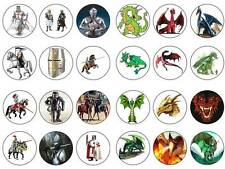 24 cake topper knights and dragons bun fairy cupcake toppers birthdays party