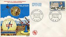 FRANCE FDC - 539 1451 1 CENTENAIRE DE L'UIT - 17 Mai 1965 - LUXE