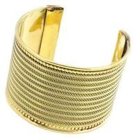 Messing Brass Armreif Seile Linien Punkte oxidiert gold nickelfrei antik Seile T