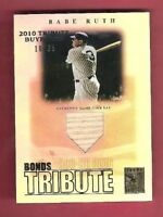 BABE RUTH GAME USED BAT CARD #d 10/35 2010 TOPPS TRIBUTE BUYBACKS YANKEES
