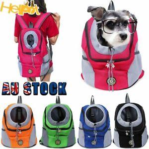 Puppy Travel Mesh Pet Dog Carrier Backpack  Front Travel Portable Shoulder Bag