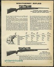 1973 WEATHERBY Vanguard and Mark XXII .22 LR Automatic Rifle AD