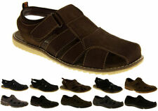 Men's 100% Leather Walking, Hiking, Trail Strapped Sandals Shoes