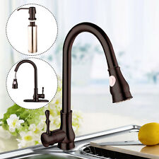 "Pull-Out Spray 16"" Kitchen Sink Faucet Swivel Spout Dispenser Baked Dark Brown"