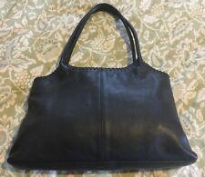 ELLINGTON Black Leather Slim Tote Bag Purse Shoulder Bag-VERY NICE