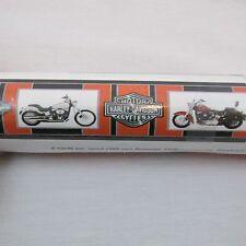Genuine HARLEY DAVIDSON Motorcycles Orange Black Silver Wallpaper Border