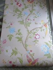 Summer Palace linen wallpaper birds floral several available