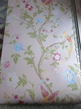 Summer Palace linen wallpaper birds floral price per roll