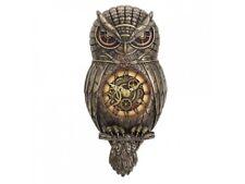 Chronology Wisdom Steampunk Owl Wall Clock by Nemesis Now